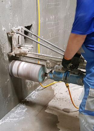 Алмазная резка сверления отверстий в бетоне