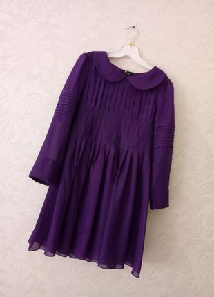 Изумительное фиолетовое брендовое платье