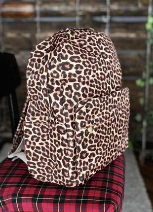 Рюкзак коричневый леопард унисекс