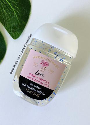 Санитайзер (антисептик) bath & body works - rose vanilla