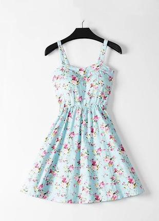 Мега хитовое трендовое летнее платье в цветочный принт