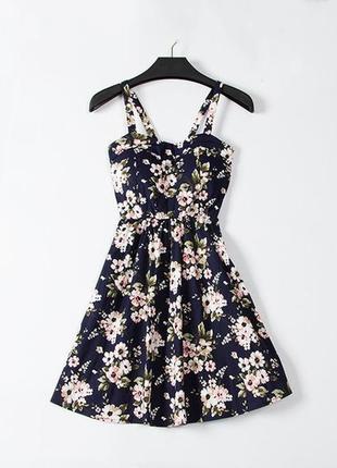 Крутейшее летнее цветочное пышное платье