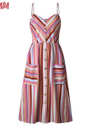 Крутейшее летнее миди платье в мега трендовый принт