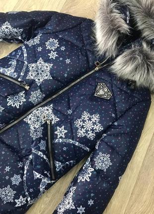 Зимнее удлиненное пальто для девочек.