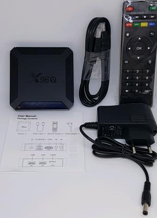 Smart TV Приставка X96Q 2/16GB Android 10 медиа TV Box