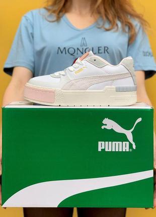 Кроссовки puma cali sport mix pink white