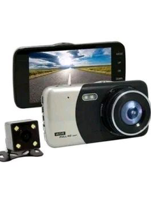 Автомобильный видеорегистратор +камера заднего вида ull HD 1080P