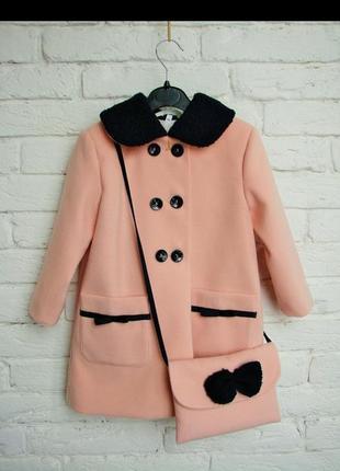 Пальто для девочек ткань: кашемир подкладка : нейлон