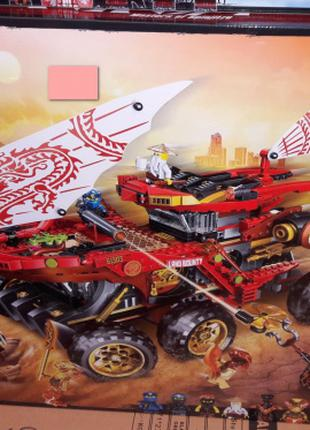 Конструктор PRCK 61029 Ниндзя Сухопутный внедорожник красного дра