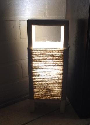Светильник ночник лампа настольная декор лофт DIY