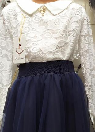 Блузки рубашки для девочки школа