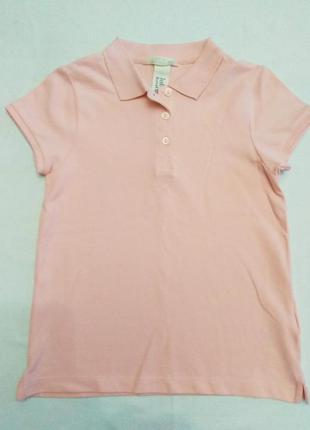 Детское розовое поло H&M