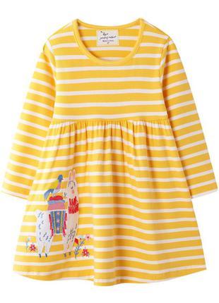 Платье для девочки, желтое. альпака.