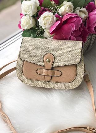 Стильная соломенная сумка сумочка тренд