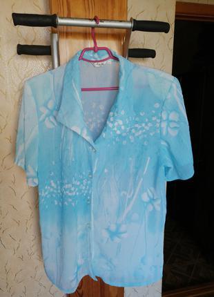 Блузка женская летняя большого размера
