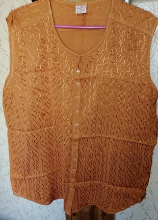 Женская летняя блузка из индийской натуральной ткани