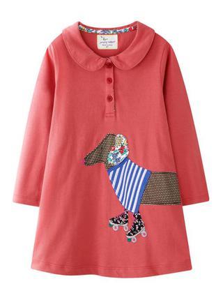 Платье для девочки, красное. такса.