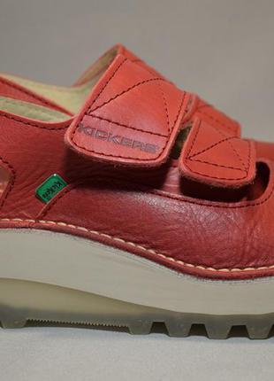 Босоножки сандалии kickers женские кожаные. франция. оригинал....