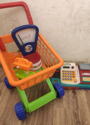"""Набор игрушек """"Магазин, супермаркет"""", тележка, кассовый аппарат"""