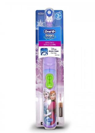Детская электрическая зубная щетка Oral-B, frozen, Анна и Эльза