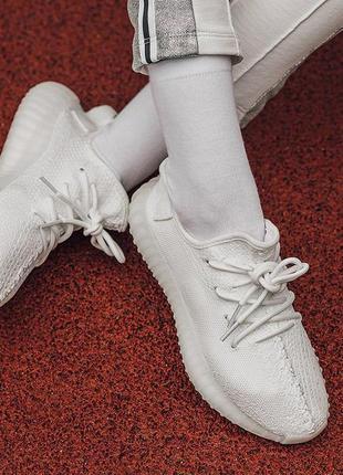 Adidas yeezy boost 350 white кроссовки адидас изи в белом цвет...