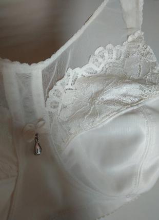 Бюстгальтер белый little rose лифчик с кружевом лифчик кружевн...