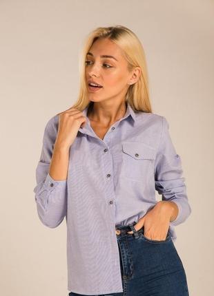 Полосатая рубашка свободного кроя вільна смугаста сорочка