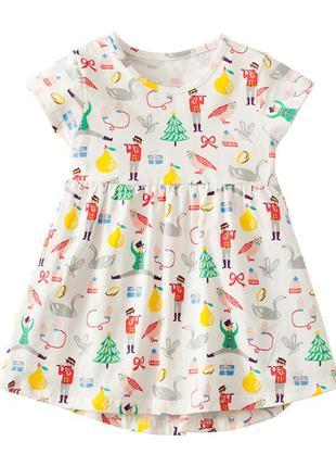 Платье для девочки, бежевое. солдатик.