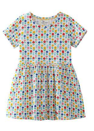 Платье для девочки, молочное. цветочки.