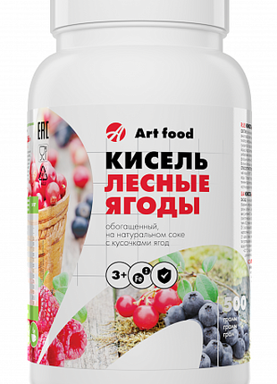 Кисель Лесные ягоды на натуральном соке с кусочками ягод