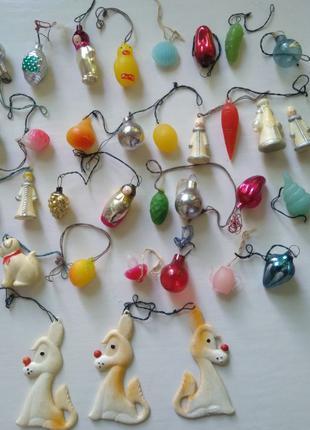 Киндер сюрприз мини игрушки на ёлку ретро, винтаж