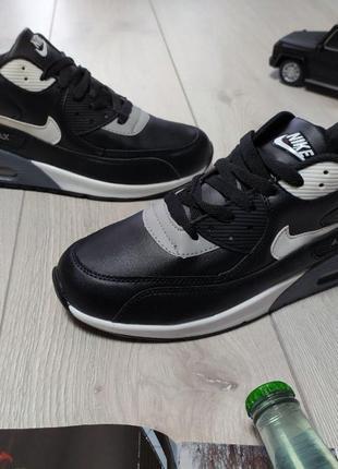 182 Nike Air Max 90 черные кроссовки мужские найк аир макс кро...