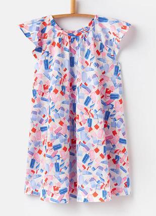 Платье для девочки, белое. эскимо.