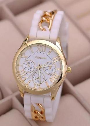 Часы женские наручные силиконовые белые