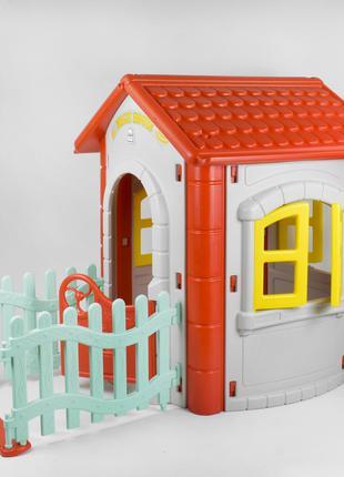 Детский игровой домик Pilsan Magic House 06-194 серый с красным
