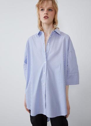 Новая женская рубашка zara 50 52 54 56 58 zara сорочка 50 52 5...