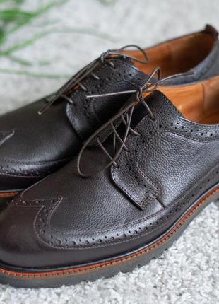 Мужские броги туфли икос кожаные, для торжественных событий