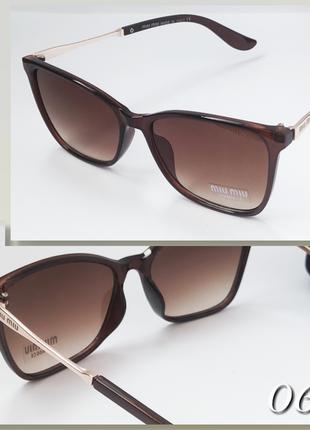 Женские очки коричневые миу миу