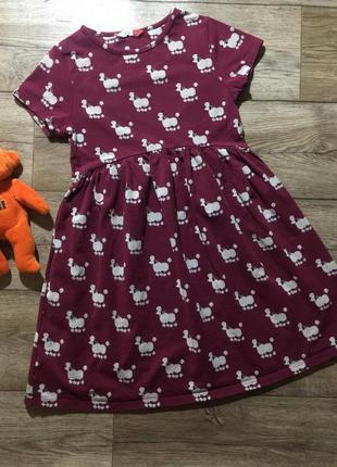 Восхитительное ,качественное платье с собачками на 7 лет,состо...