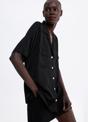 Базова блуза zara топ сорочка рубашка