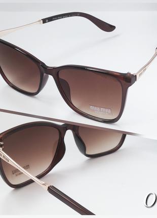 Женские очки коричневые солнцезащитные
