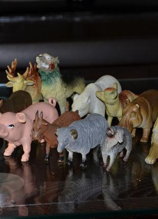 Фигурки животные дикие и домашние 12шт Набор игрушек