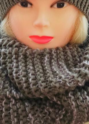 Теплый шарф-хомут