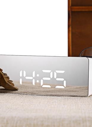 Електронний годинник, электронные, настольные часы LED, будильник