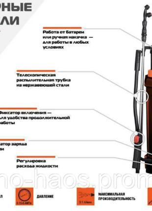 Опрыскиватель аккумуляторный (16л) Sturm GS8216BM