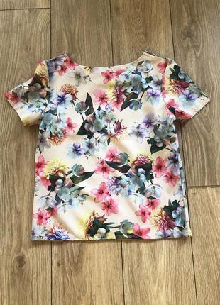 Летняя блуза в цветы