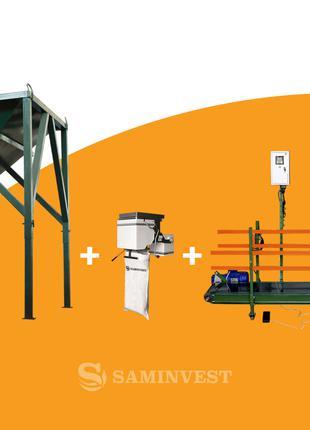 Линия фасовки в мешки (10-50 кг) и биг-беги (1000 кг) гибрид