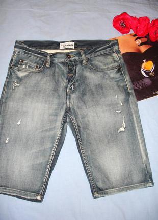 Мужские шорты джинсовые размер w30 w 30 размер 46 стрейчевые с...