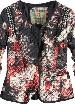 Легкая куртка женская garcia пиджак жакет цветочный принт жіно...