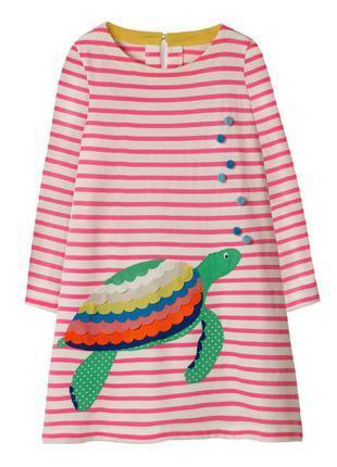 Платье для девочки, белое в полоску. черапашка.